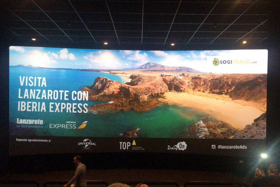 "Top Tourism Marketing, Diploma en los IX Premios Agripina por su campaña ""4DX Lanzarote"""
